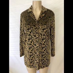 Diane Von Furstenberg color authority gold tunic S